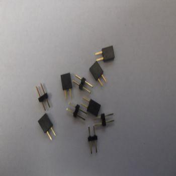 Pack of 5 Miniature 2 pin Plugs & Sockets - 2.54mm pitch